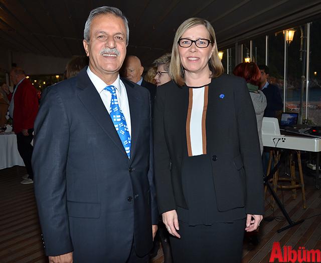Alanya Belediyesi Yabancılar Meclisi Başkanı Abdullah Karaoğlu ve Büyükelçi Paivi Kiaramo