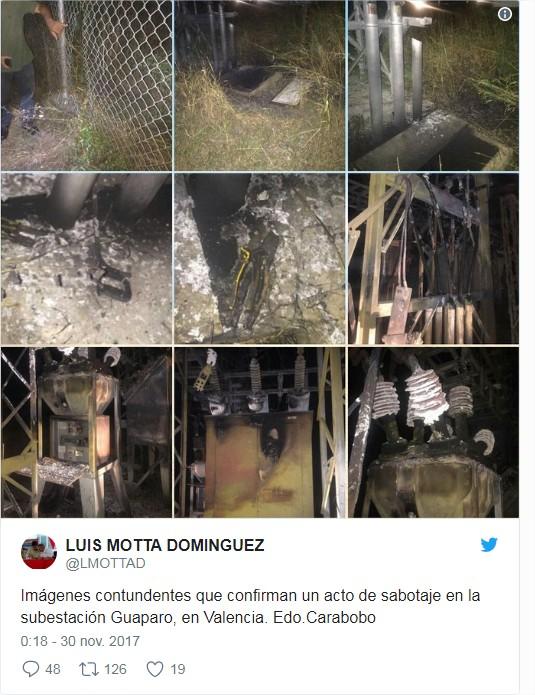 Explosión en la subestación Guaparo fue producto de un