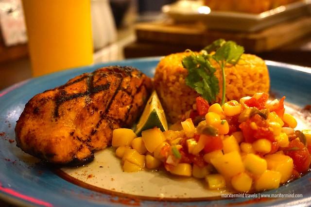 Encima Roofdeck Restaurant - Salmon Mexicana