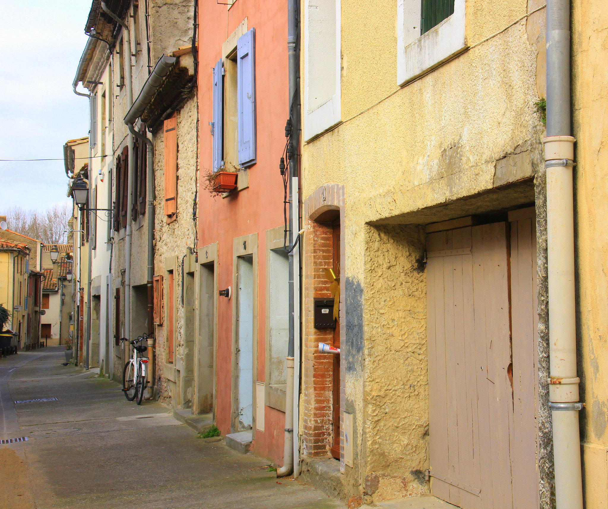 The old row houses of Carcassonne