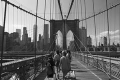 Walking in the Brooklyn Bridge