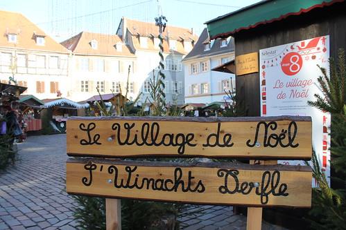 Le village de Noël sur la Place d'Armes de Sélestat du 1er au 24 décembre.