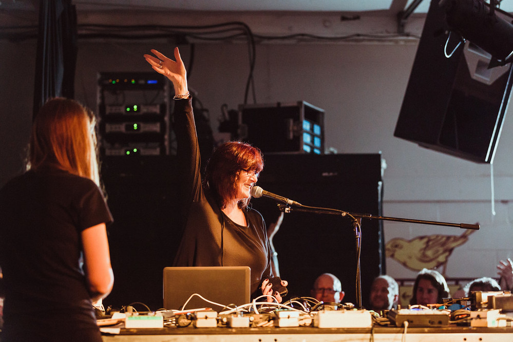 Post COUM – COUM Transmissions live programme. Picture: Cosey Fanni Tutti. Photo: © Chris Pepper