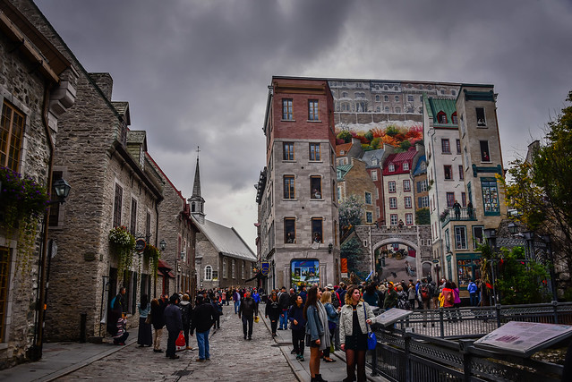 Old Quebec Lower Town (Basse-Ville) - Quebec City Quebec Canada