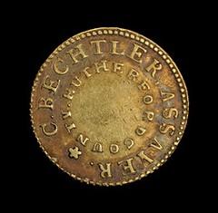 Bechtler gold $5 obverse