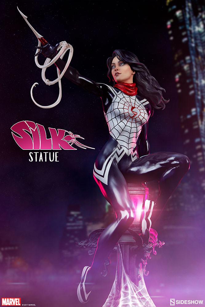 「當我以這個形象出現時,請叫我蛛絲。」Sideshow Collectibles 蜘蛛宇宙系列【蛛絲】Spider-Verse Collection Silk 1/5 比例全身雕像作品