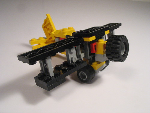 Folding wing bi-plane and transport truck 013