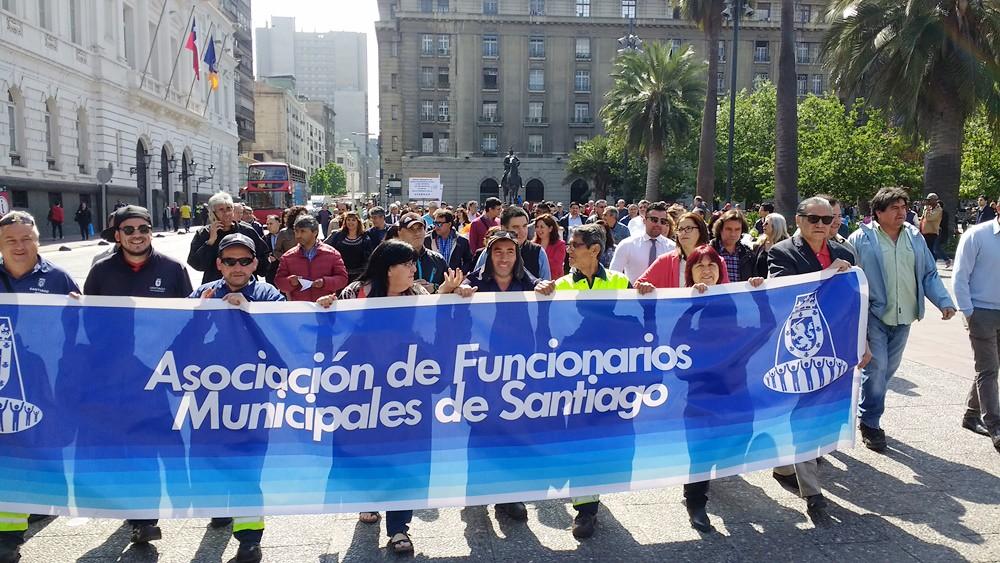 2017 nov 15 marcha al Ministerio de hacienda repudiando el reajuste miserable