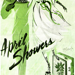 Thu, 1945-11-01 00:00 - Ad, Personal Product - Cheramy, April Showers Perfume, The Fragrance of Youth - Lady's Home Journal, 1945-11 - Artist- McCullough