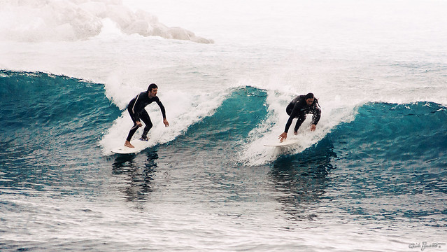 surfers in Andora, early 2000