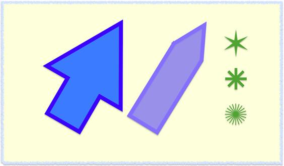 矢印多角形
