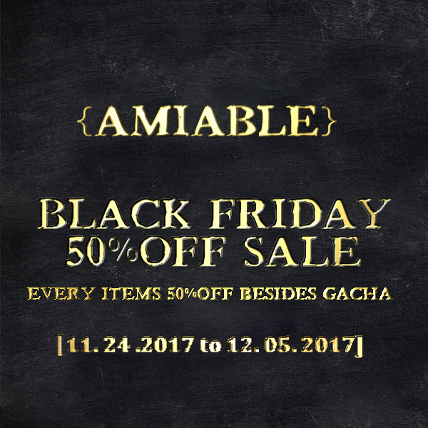 {amiable}BLACK FRIDAY 50%OFF SALE & New GIFT!!!!!! - TeleportHub.com Live!