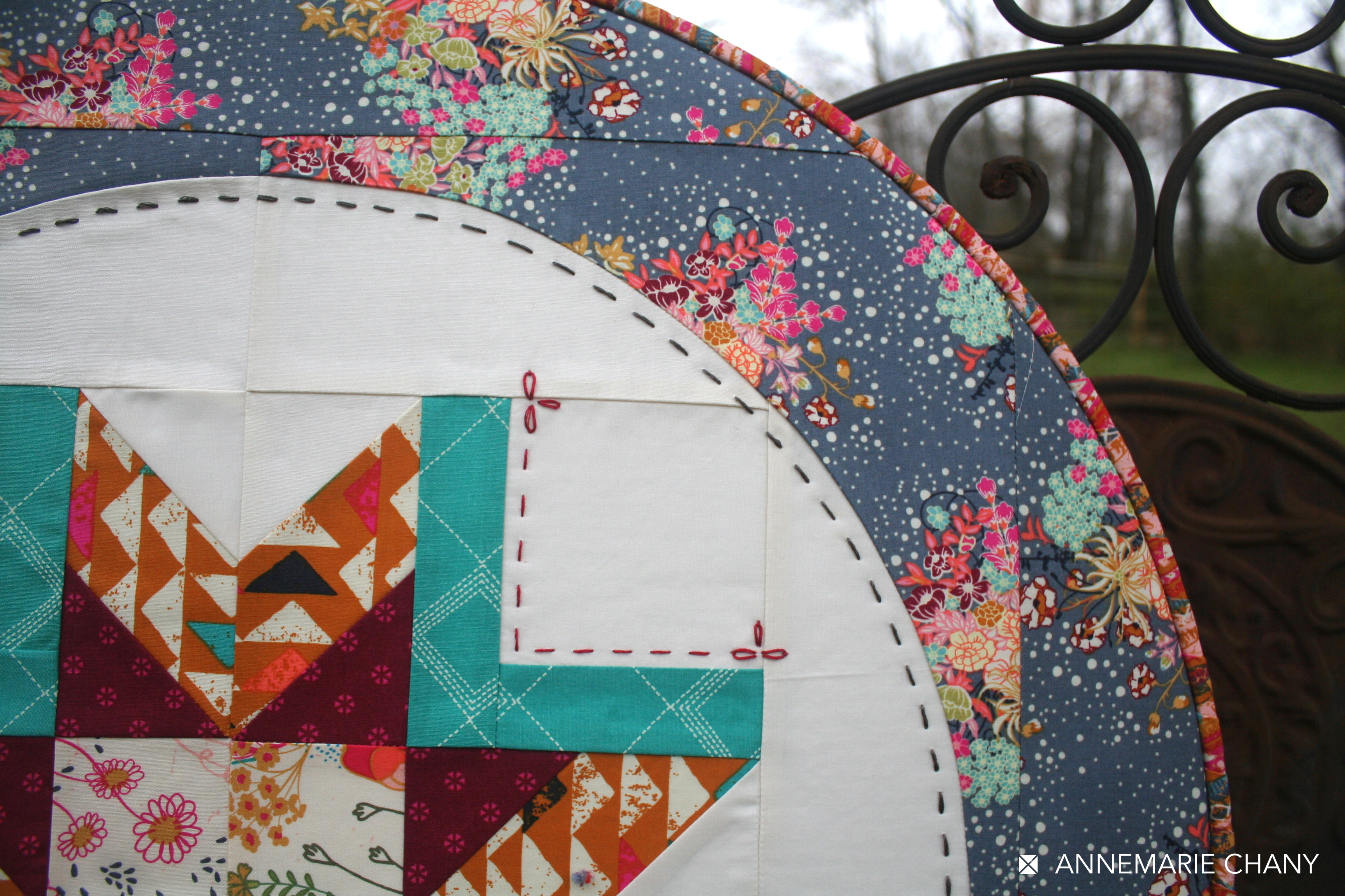Indie Folk Hoop Quilt Close Up