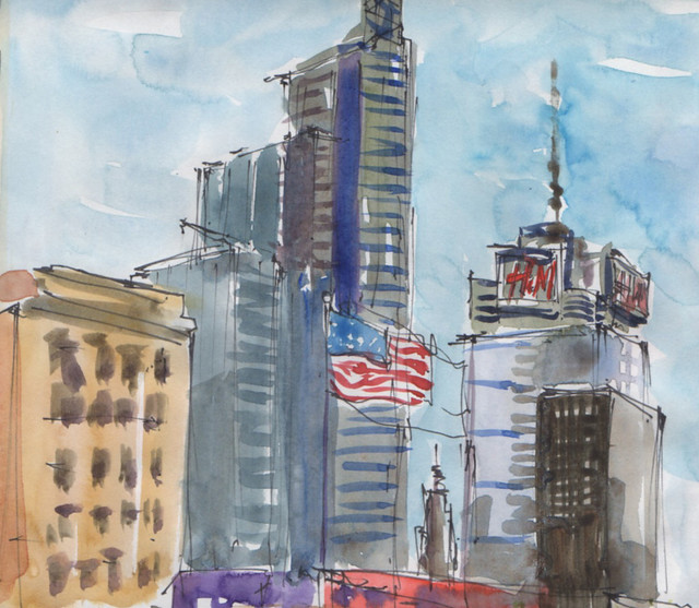 Times Square, USK Global Sketchwalk Nov 11