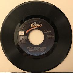 MICHAEL JACKSON:DON'T STOP 'TIL YOU GET ENOUGH(RECORD SIDE-A)