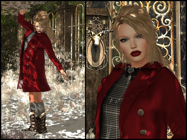 Vibrant Red and Big Winter Boots