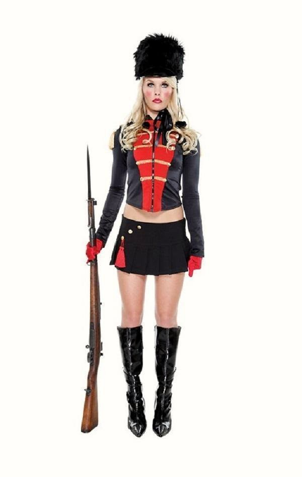 Womens nutcracker british guard soldier fancy dress costume outfit nutcracker costume solutioingenieria Choice Image