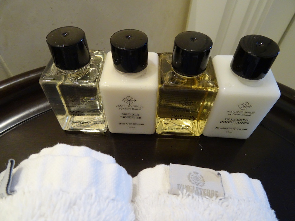 Amazing Spa Products at Hotel D'Angleterre