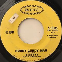 DONOVAN:HURDY GURDY MAN(LABEL SIDE-A)
