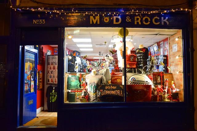 Mod Rock Christmas Windows, Canterbury #christmas