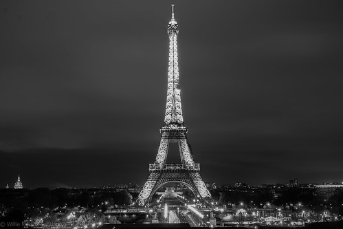 Tour Eiffel from Trocadero BNW