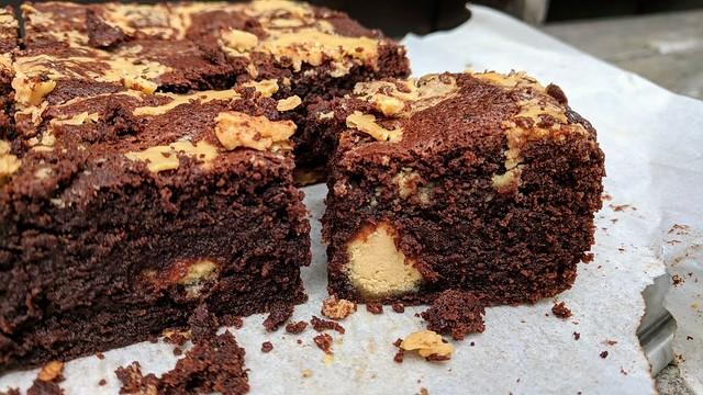Tahini and Halva Brownies