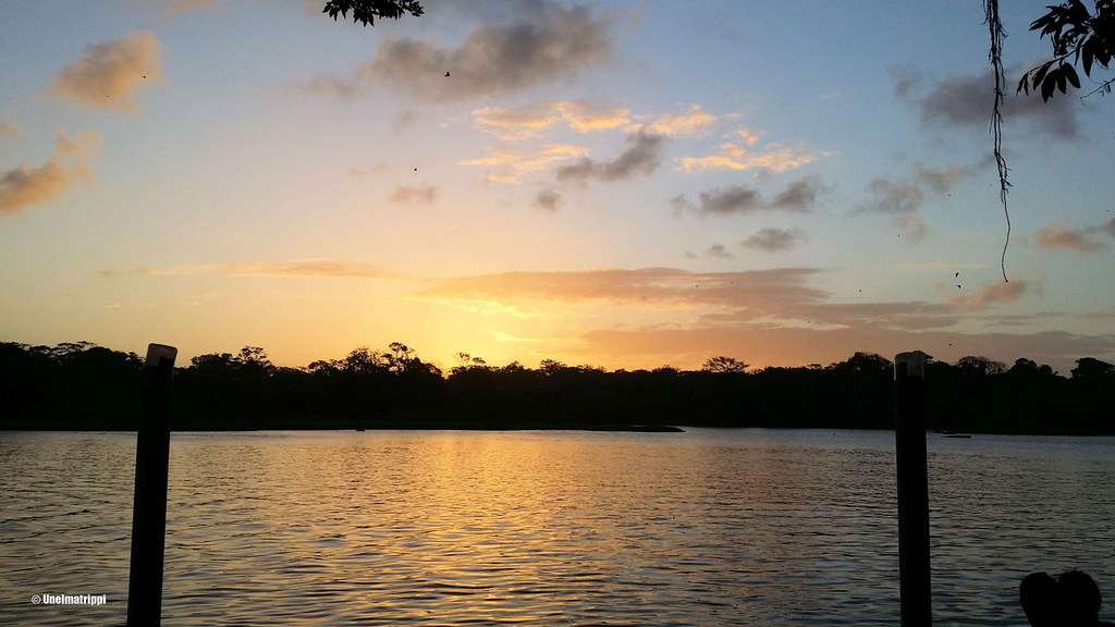 Auringonlasku, Casa Marbella, Tortuguero, Costa Rica