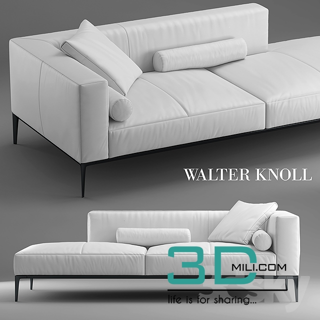378 sofa jaan living walter knoll 3d mili download 3d model free 3d models 3d model. Black Bedroom Furniture Sets. Home Design Ideas
