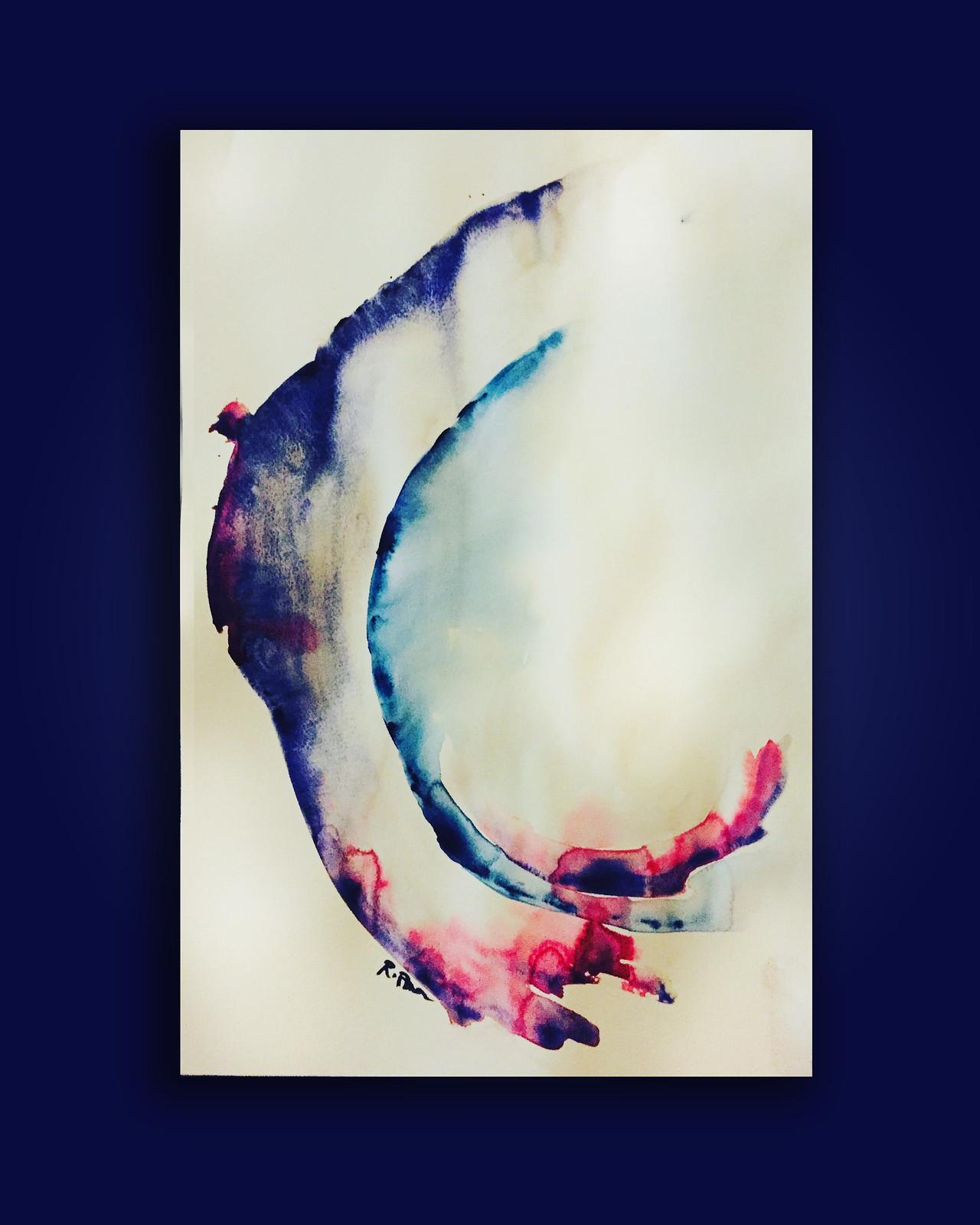 Rebecca Pons, BECCA PONS + CREATIVE, watercolor, fine art, colorful ora1