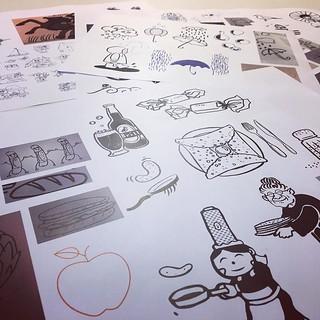 La carte de vœux se dessine doucement. Encore temps de nous envoyer vos creas ! #dessinetabretagne