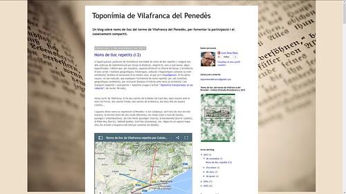 189 - Toponímia de Vilafranca