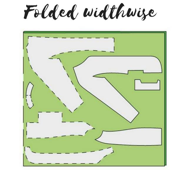 3 Folded Widthwise