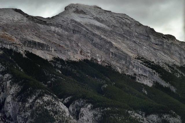 Looking Across and Up the Side of Mount Rundle (Banff National Park)