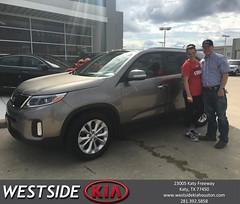Congratulations Daniel on your #Kia #Sorento from Rick Hall at Westside Kia!