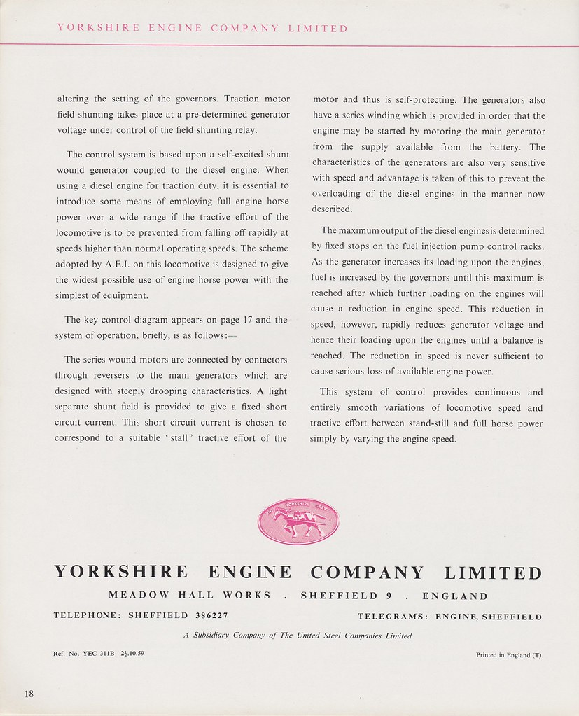 Daveynorths Most Interesting Flickr Photos Picssr Ref Relay Circuit Diagram Yorkshire Engine Company 1959 Janus 400hp Diesel Electric Brochure