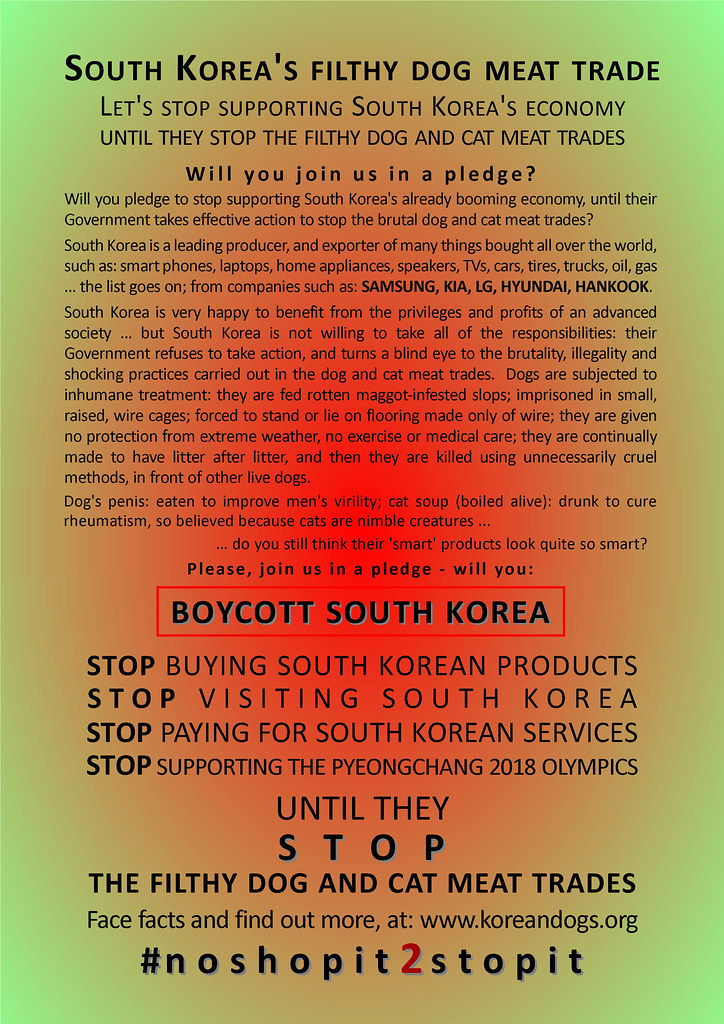 South Korea's filthy dog meat trade #noshopit2stopit