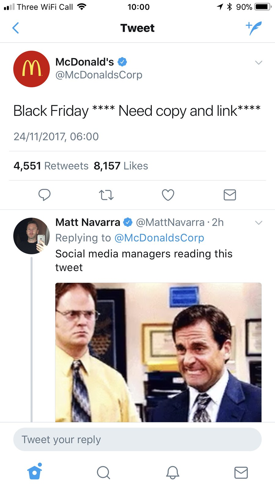 McDonald's Twitter faux pas