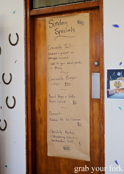 Hughes Barbecue Sunday Specials menu at The George Hotel in Waterloo Sydney