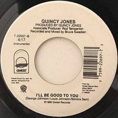 QUINCY JONES:I'LL BE GOOD TO YOU(LABEL SIDE-B)