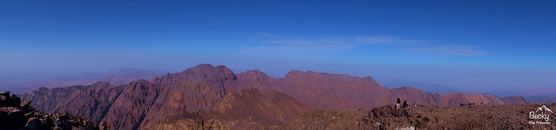 Mount Toubkal Trek - Mt Toubkal summit views of the Atlas Mountains