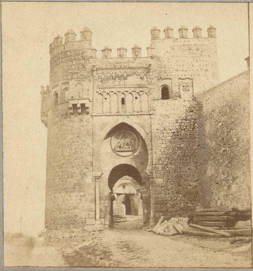 Puerta del Sol en 1858 por Louis Léon Masson, Biblioteca Nacional
