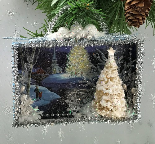 Christmas card shadowbox
