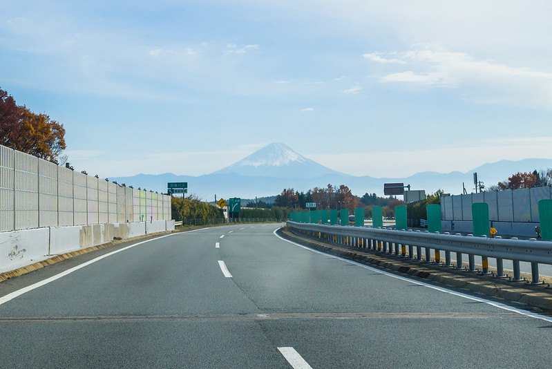 Mt. Fuji seen from the expressway
