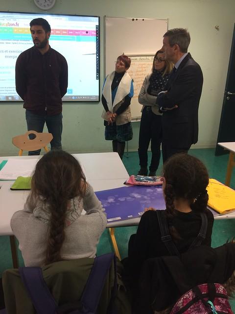 Dispositif « Devoirs faits »: visite du recteur au collège du Grand Parc à Bordeaux