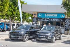 Porsche Cayenne + Range rover évoque ibiza Spain 2017
