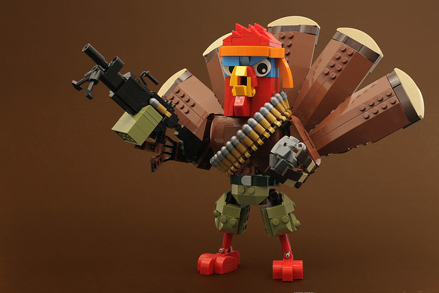 Not This Year! LEGO Thanksgiving dinde Rambo