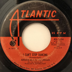 ARCHIE BELL & THE DRELLS:I CAN'T STOP DANCING(LABEL SIDE-A)