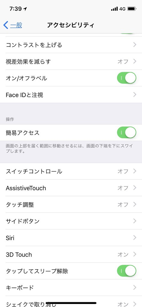 iPhone X accessibility adjustment
