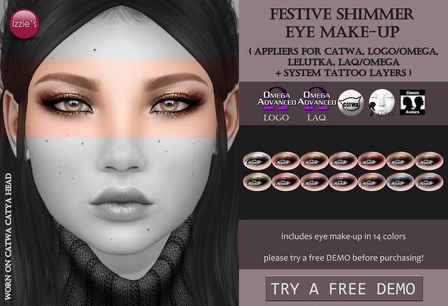 Festive Shimmer Eye Make-Up (@ Tannenbaum)