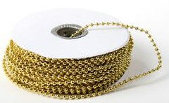 Gold Metallic String Beads